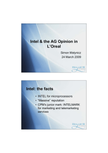 Intel & the AG Opinion in L'Oreal Intel: the facts