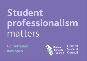 Student professionalism matters Consultation