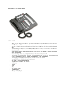 Avaya 6424D+M Display Phone
