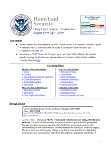Homeland Security Daily Open Source Infrastructure Report for 9 April 2009