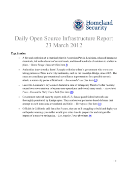 Daily Open Source Infrastructure Report 23 March 2012 Top Stories