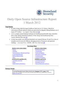 Daily Open Source Infrastructure Report 1 March 2012 Top Stories
