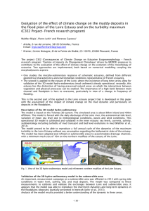 Evaluation of the effect of climate change on the muddy... the flood plain of the Loire Estuary and on the...