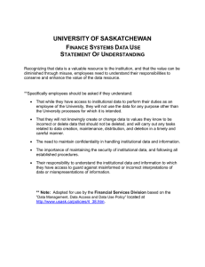 UNIVERSITY OF SASKATCHEWAN S