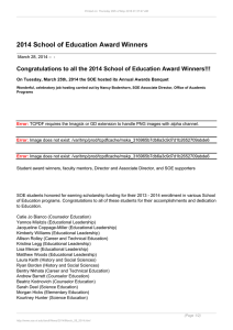 2014 School of Education Award Winners