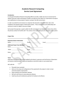 Academic Research Computing Service Level Agreement