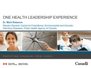 ONE HEALTH LEADERSHIP EXPERIENCE