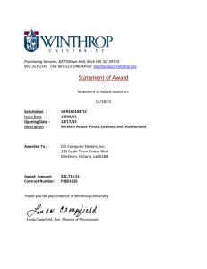 Statement of Award