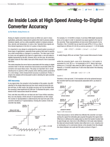 An Inside Look at High Speed Analog-to-Digital Converter Accuracy  |