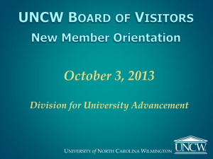October 3, 2013 Division for University Advancement U