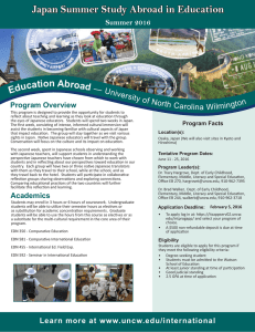 Japan Summer Study Abroad in Education  Educati on Abroad