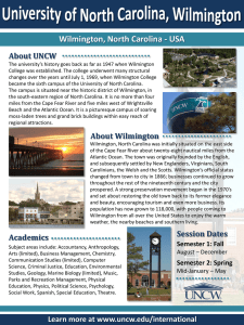 Wilmington, North Carolina - USA About UNCW