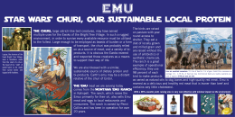 EMu star wars' churi, our sustainable local protein