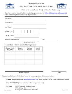 GRADUATE SCHOOL INDIVIDUAL COURSE WITHDRAWAL FORM