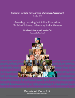 Assessing Learning in Online Education: