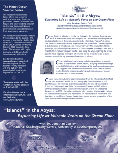 """Islands"" in the Abyss: The Planet Ocean Seminar Series"