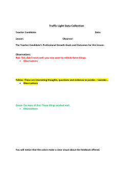 Traffic Light Data Collection
