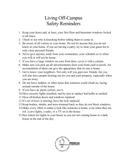 Living Off-Campus Safety Reminders