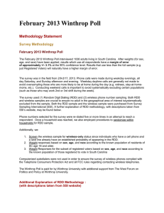 February 2013 Winthrop Poll  Methodology Statement Survey Methodology
