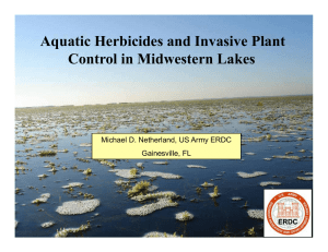 Aquatic Herbicides and Invasive Plant Control in Midwestern Lakes Gainesville, FL