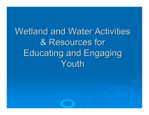 Wetland and Water Activities & Resources for Educating and Engaging Youth