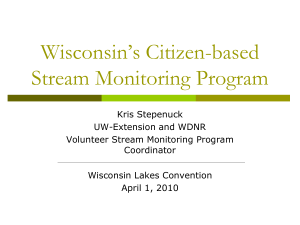Wisconsin's Citizen-based Stream Monitoring Program