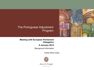 The Portuguese Adjustment Program Meeting with European Parliament Delegation