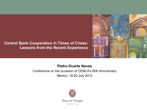 Central Bank Cooperation in Times of Crises: Pedro Duarte Neves