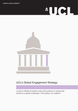 UCL's Global Engagement Strategy