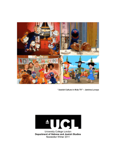 University College London Newsletter Winter 2011 Department of Hebrew and Jewish Studies