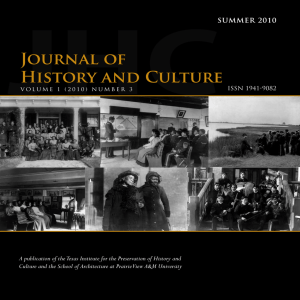 JHC Journal of History and Culture
