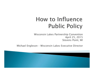Wisconsin Lakes Partnership Convention April 25, 2015 Stevens Point, WI