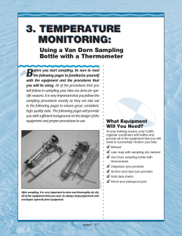 B 3. TEMPERATURE MONITORING: