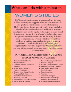 What can I do with a minor in... WOMEN'S STUDIES