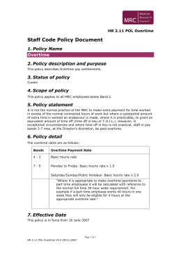 Staff Code Policy Document 1. Policy Name 2. Policy description and purpose
