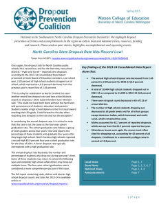Dropout Prevention Coalition E-Newsletter Spring 2015