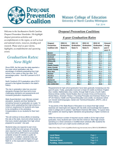 Welcome to the Southeastern North Carolina Dropout Prevention Newsletter. We highlight