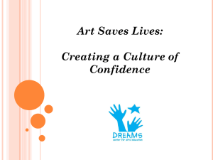 Art Saves Lives: Creating a Culture of Confidence