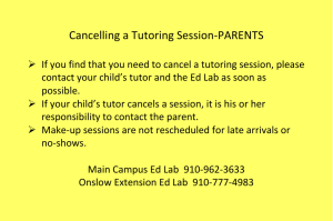 Cancelling a Tutoring Session-PARENTS