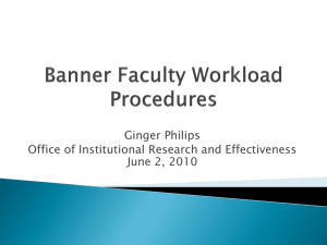 Ginger Philips Office of Institutional Research and Effectiveness June 2, 2010