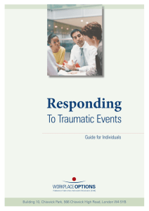 Responding To Traumatic Events Guide for Individuals