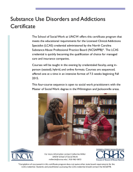 Substance Use Disorders and Addictions Certificate