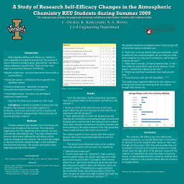 A Study of Research Self-Efficacy Changes in the Atmospheric