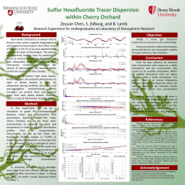 Sulfur Hexafluoride Tracer Dispersion within Cherry Orchard