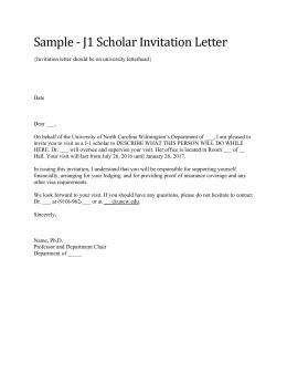 Student or scholars name address phone number sample j1 scholar invitation letter stopboris Choice Image