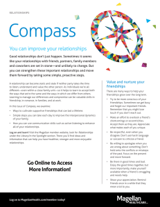 Compass You can improve your relationships