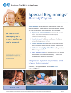 Special Beginnings Maternity Program ®'