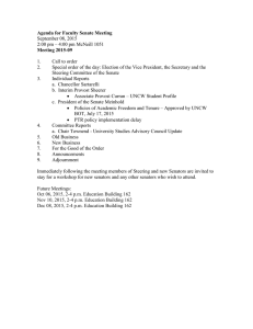 Agenda for Faculty Senate Meeting Meeting 2015-09