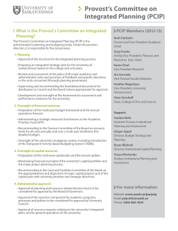 Provost's Committee on Integrated Planning (PCIP)