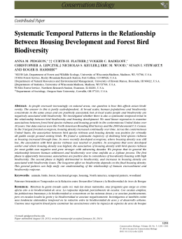 Systematic Temporal Patterns in the Relationship Biodiversity